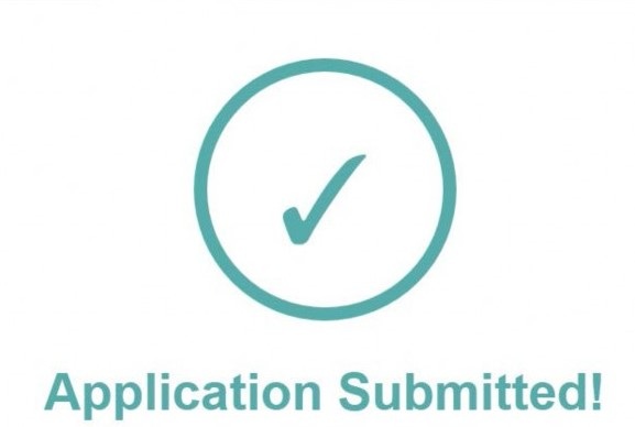 application is submitted